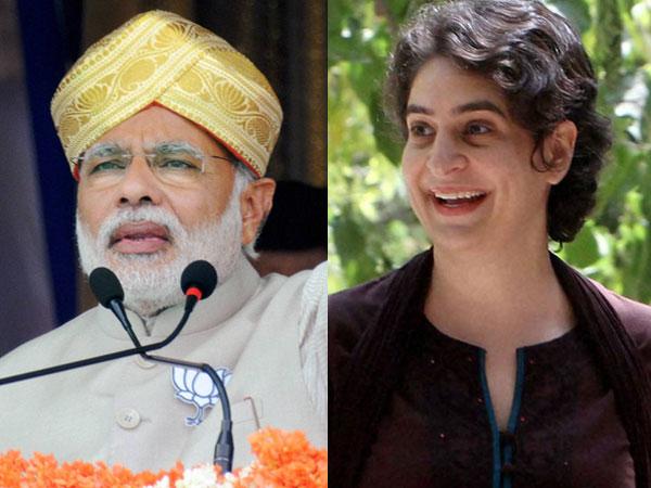 Narendra Modi and Priyanka Gandhi