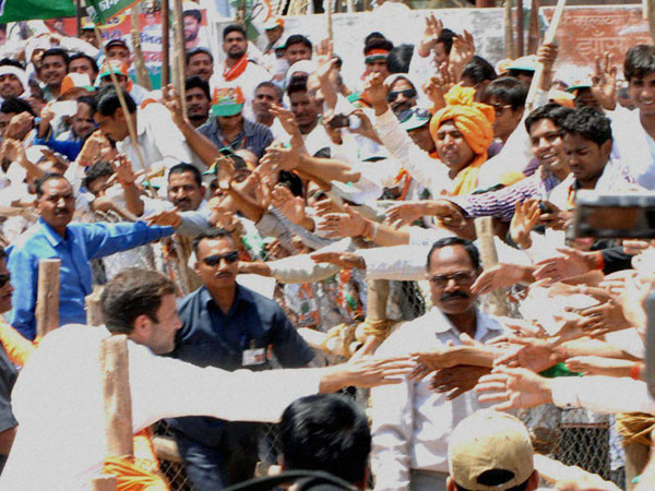 Rahul Gandhi meets supporters