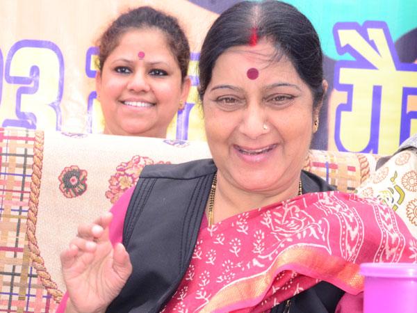 Sushma praises Narendra Modi in Bihar