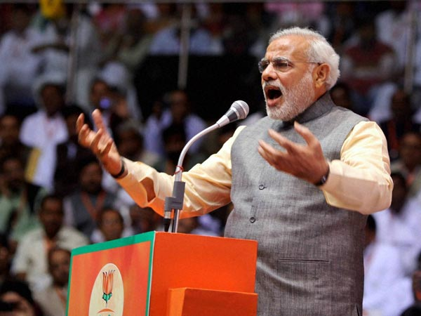Congress party betrays people, says Modi
