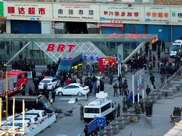Blast in China railway station