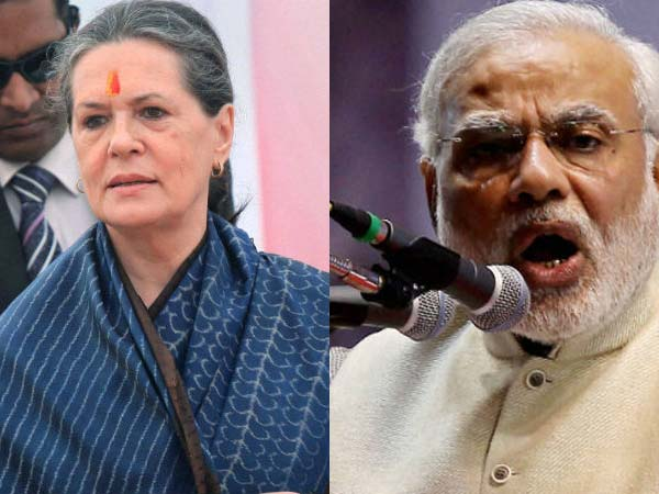 Modi mocks Sonia's invocation of god