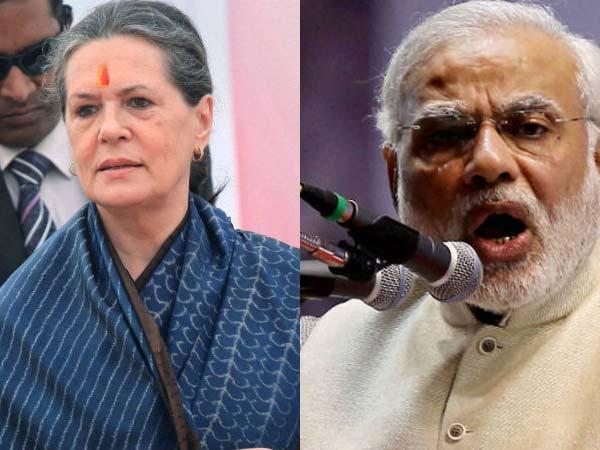 Sonia hits out at Narendra Modi