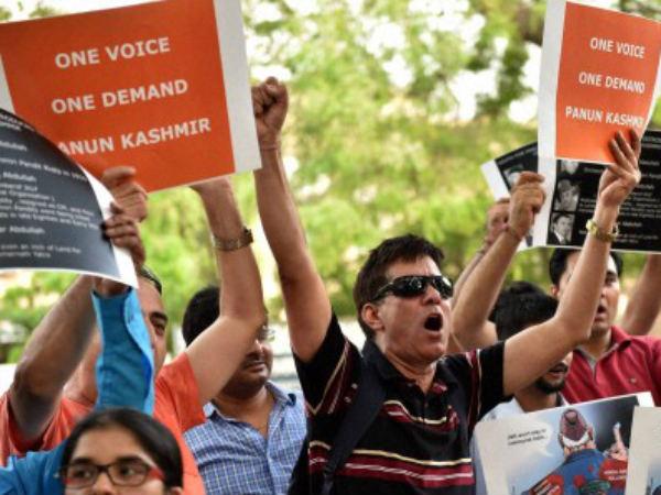 Kashmiri student protest