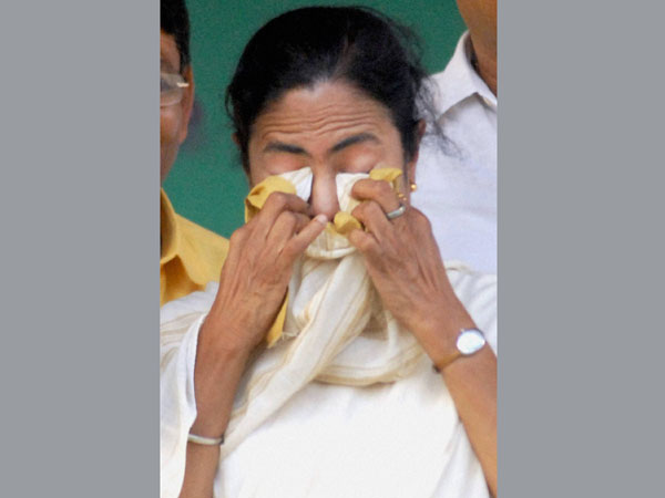 Minister Mamata Banerjee during an election campaign rally