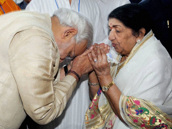 Modi and Lata Mangeshkar