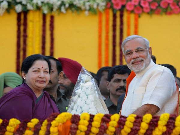Jayalalithaa and Narendra Modi