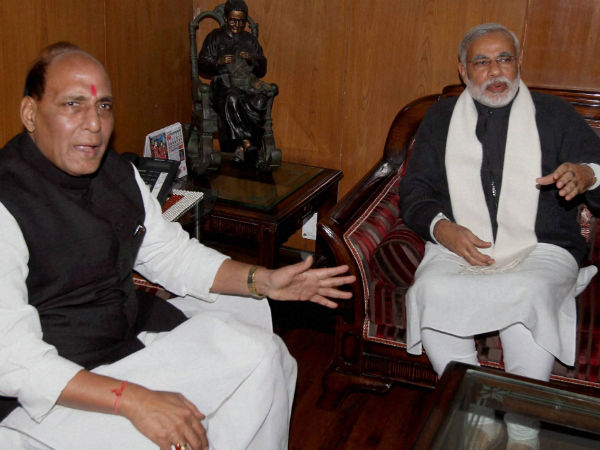 Rajnath congratulates Modi, says BJP's performance 'superb'