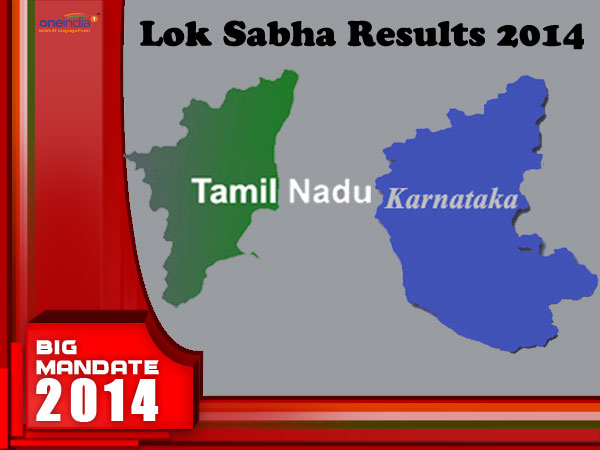 Live TN, Karnataka LS result 2014