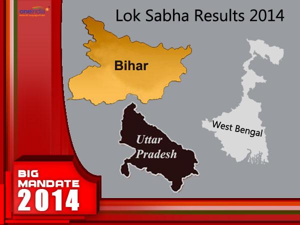 West Bengal, Bihar, UP LS Results
