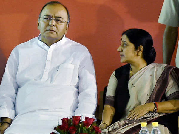 Jaitley and Sushma at BJP meet