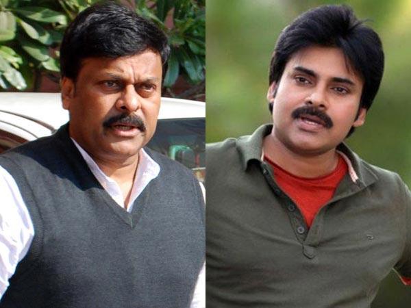 Chiranjeevi and Pawan Kalyan