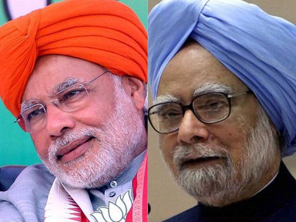 Modi and Manmohan Singh