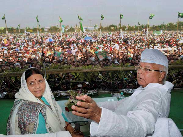 Lalu with wife