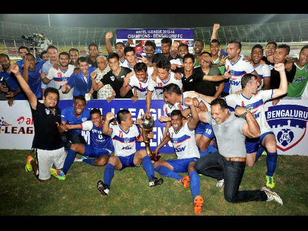 File photo: Bengaluru FC, winners of this year's I-League