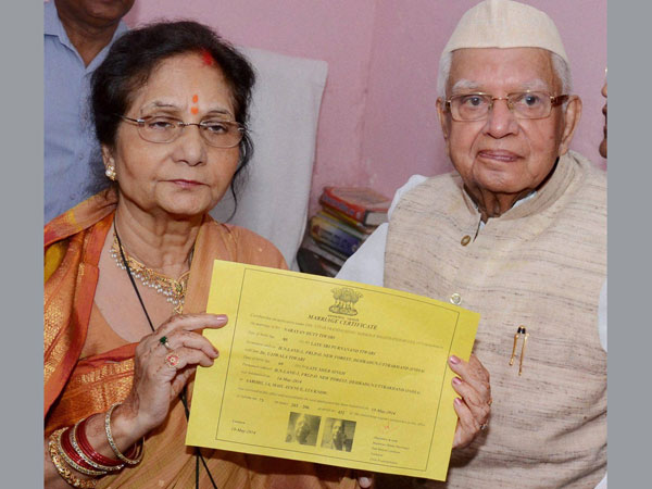 Tiwari registers marriage with Ujjawala