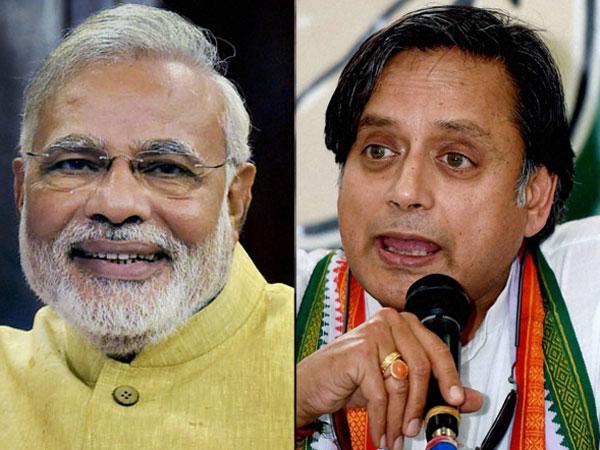 Narendra Modi and Shashi Tharoor