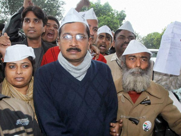Arvind jailed: AAP protests 'silently'