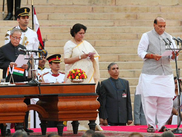 Rajnath Singh as a Cabinet at a ceremony