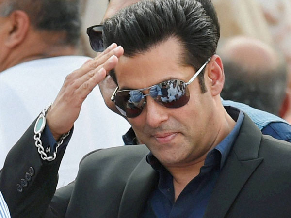 Actor Salman Khan at the swearing-in ceremony