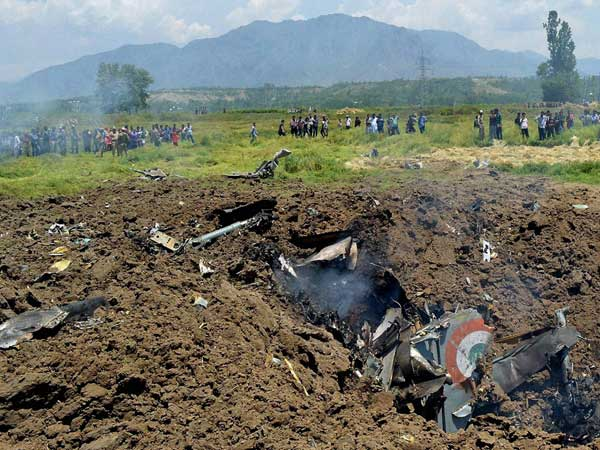Air Force fighter plane MIG 21 crashes