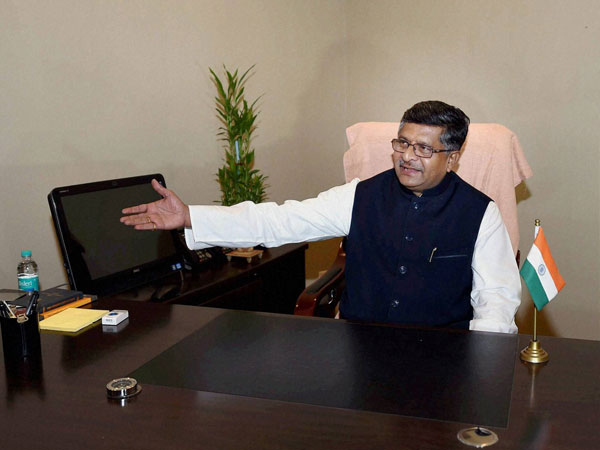 Ravi Shankar Prasad taking charge of the Ministry of Communications and IT