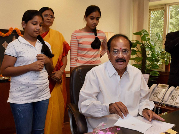 M Venkaiah Naidu takes charge of the Ministry of Urban Development and Housing