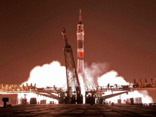 Soyuz-FG rocket takes off