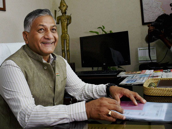 Former Army Chief V. K. Singh takes charge as the Minister of State