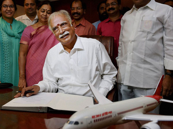 Ashok Gajapathi takes charge of Civil Aviation Ministry