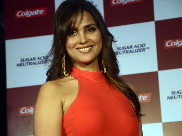 Actress Lara Dutta during launch of a toothpaste in Mumbai