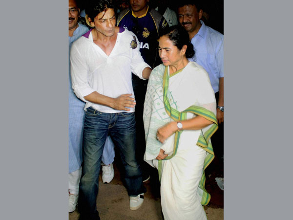 KKR owner Shahrukh Khan meets West Bengal Chief Minister Mamata Banerjee