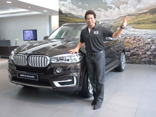 Cricket legend Sachin Tendulkar launches BMW X5 in Pune
