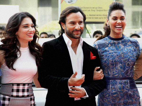 Bollywood actors Esha Gupta, Saif Ali Khan and Tamannaah Bhatia
