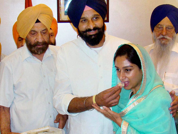 Harsimrat Kaur as she takes charge as Union Minister for Food Processing Industries