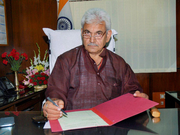 Manoj Sinha taking charge as the Minister of State for Railways