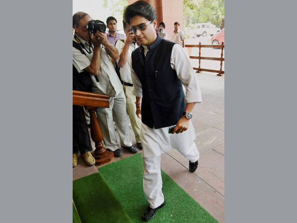Congress MP Jyotiraditya Scindia at Parliament House