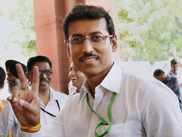 BJP MP Rajyavardhan Singh Rathore at Parliament House