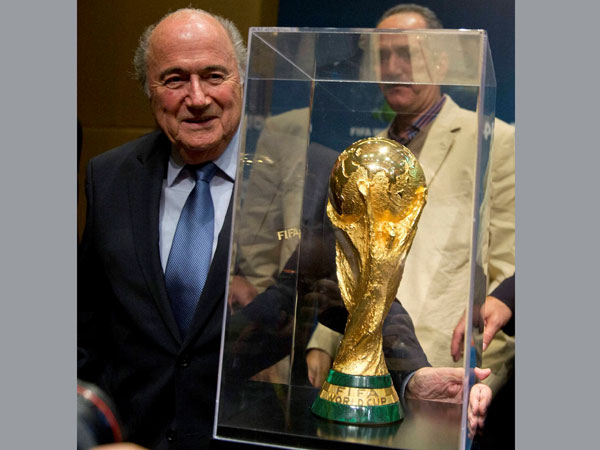 FIFA President with World Cup