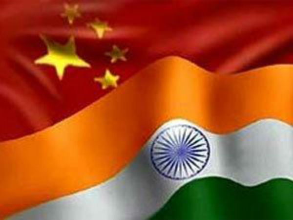 India, China flags