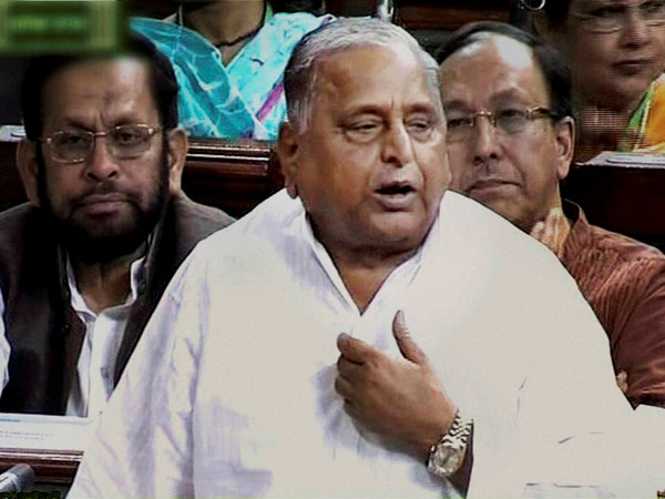 Samajwadi Party chief Mulayam Singh Yadav speaks