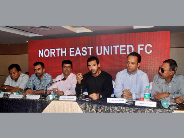 Actor and brand ambassador of North East United Football Club John Abraham