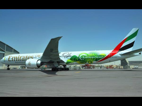 'Pele'ane' ready for take off. Photo: Emirates Airline Twitter account