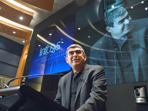 Newly appointed CEO and MD of Infosys, Vishal Sikka