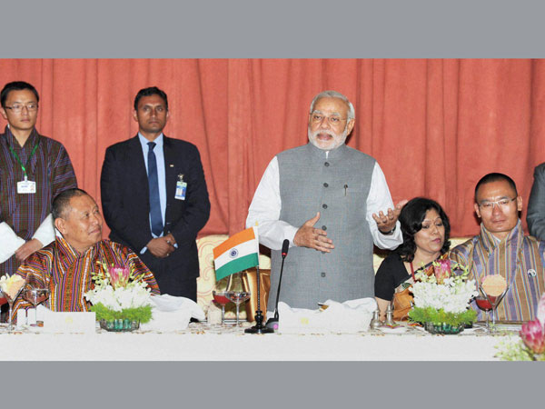 Prime Minister Narendra Modi speaks at the banquet hosted