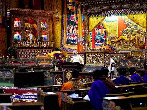 Modi addresses Bhutan Parliament