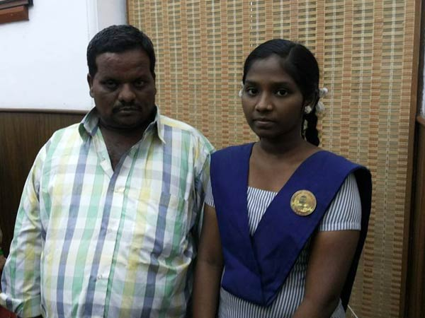 Chennai girl - Sowjanya with her father