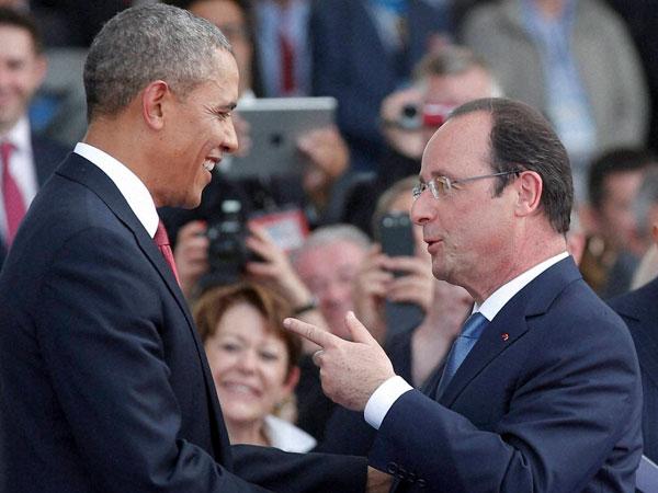 Hollande, Obama discuss Ukraine, Iraq