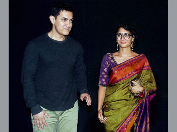 Bollywood Actor Aamir Khan with his wife