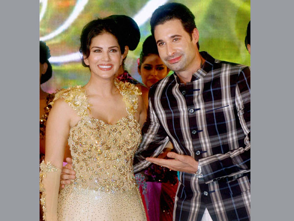 Bollywood actress Sunny Leone with her husband Daniel Weber